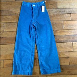 Jesse Kamm Corduroy Sailor Pants in Pencil Blue